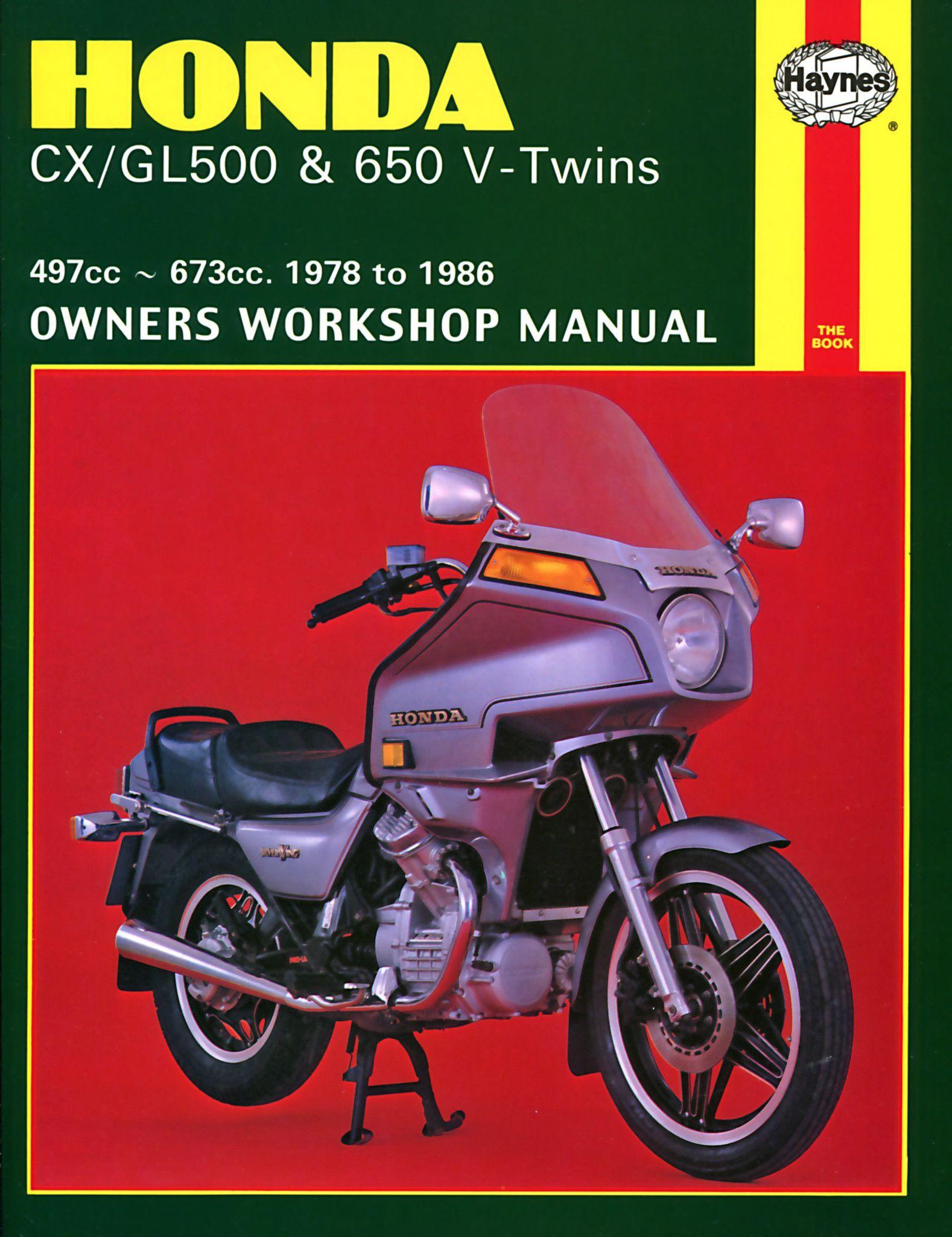 Haynes M442 Repair Manual for 1978-83 Honda CX/GL500,650 V-Twins 497cc, and  673cc