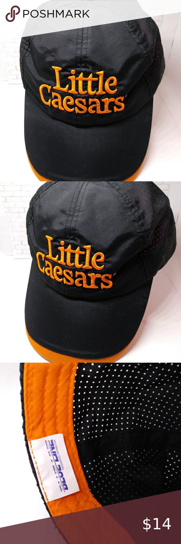 Little Caesar S Pizza Employee Hat Black Uniform Little Caesars Pizza Hat Black Cap Employee Work Uniform Adjustable Pre Own Black Cap Pizza Hat Work Uniforms
