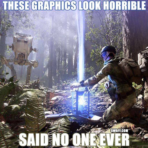 Star Wars Battlefront Graphics Look Horrible Meme Star Wars Star Wars Humor Star Wars Battlefront