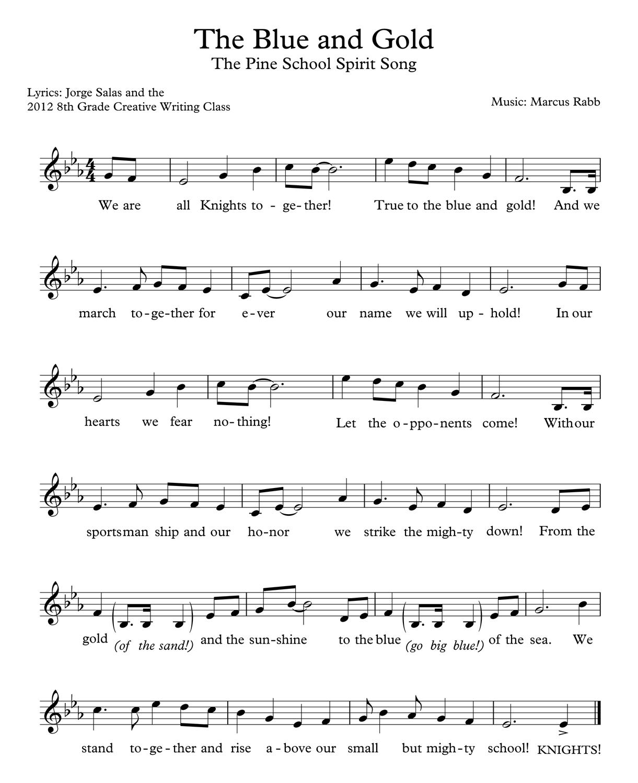 The Pine School Spirit Song
