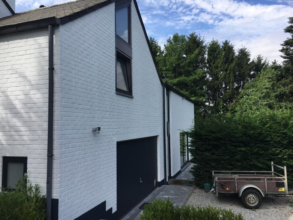 Sous-bassement de façade extérieure #peinture #façade #maison