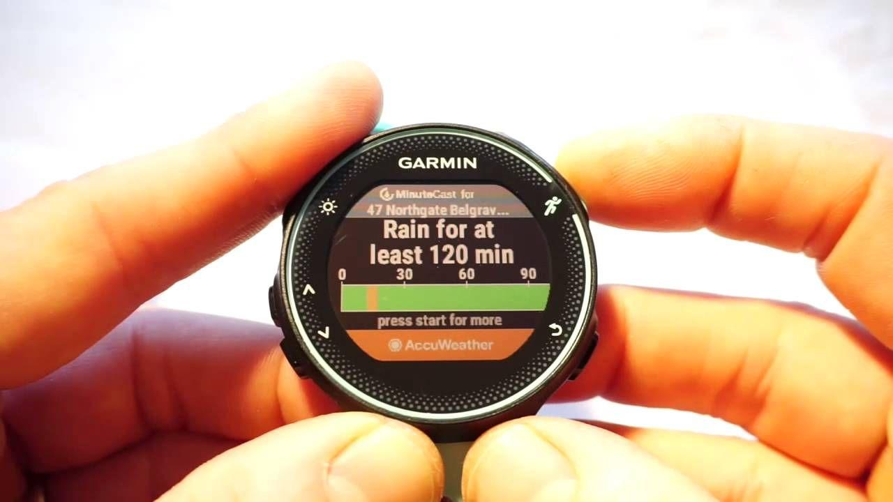Garmin Forerunner 235 Connect IQ widgets, applications