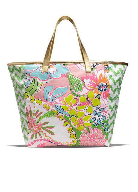 92924ed009 Lilly Pulitzer for Target Canvas Shopping Tote - Nosie Posey And  Belladonna