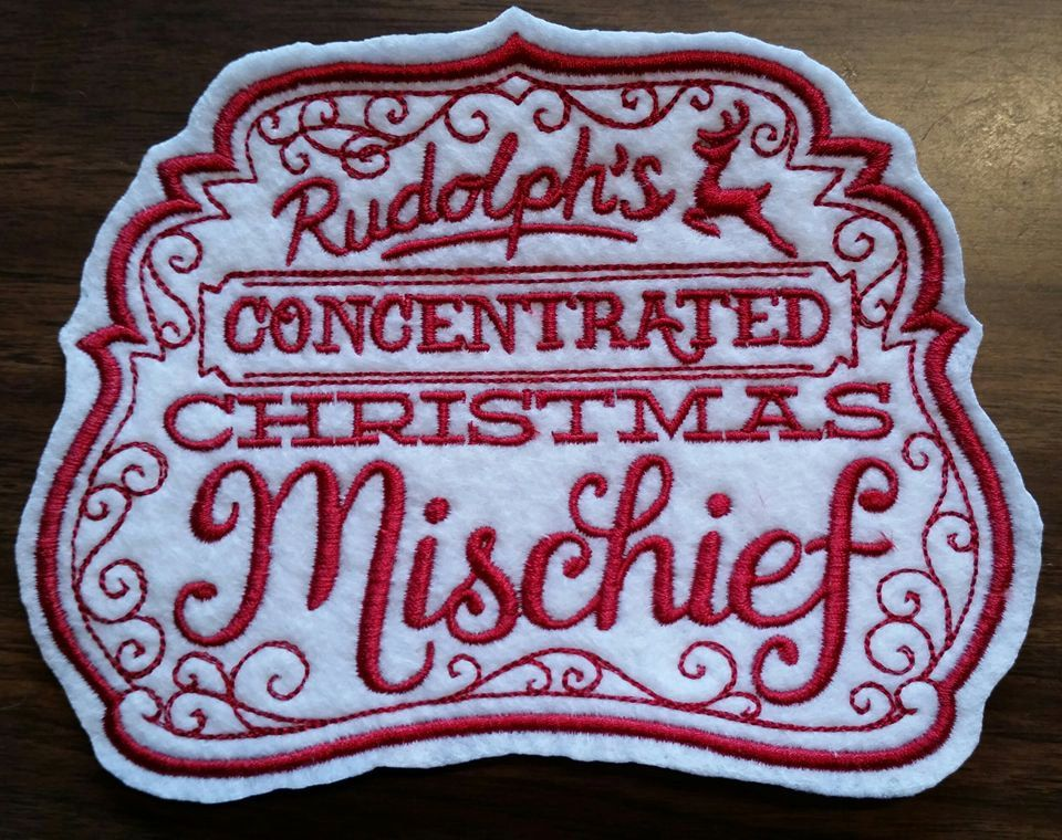 Christmas label,Rudolph by VampqueensVault on Etsy
