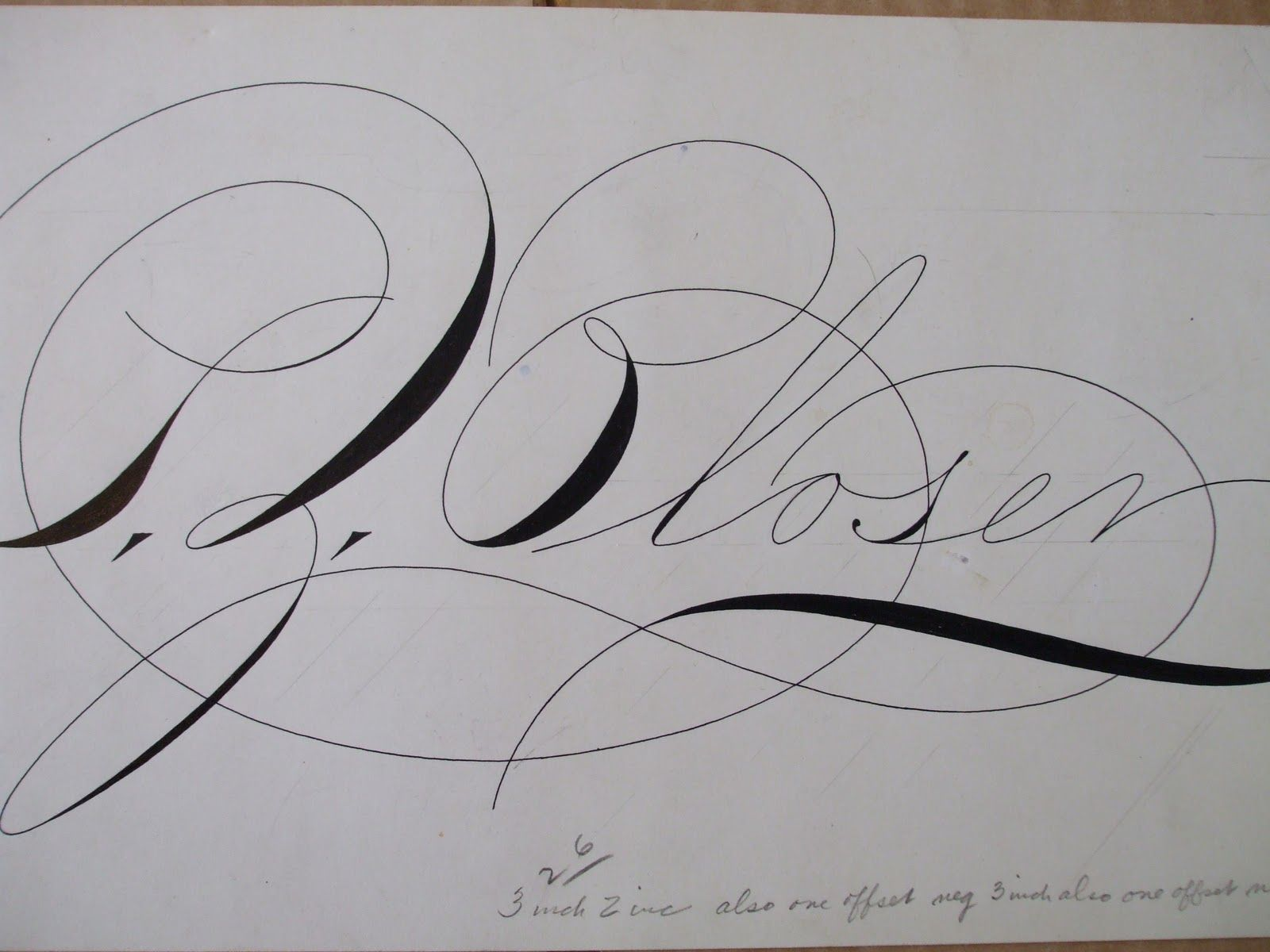 Spencerian Script By Michael Sull