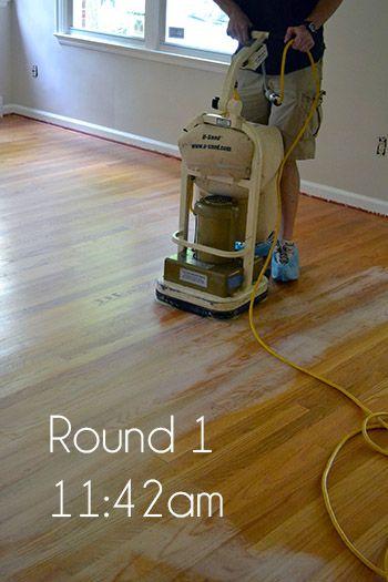 How To Sand Wood Floors Diy Wood Floors Refinishing Floors Diy Hardwood Floors