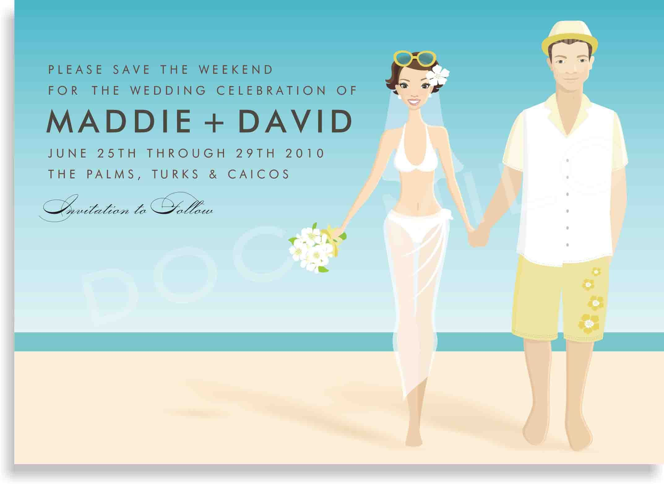 Collection Of Thousands Of Free Beach Wedding Invitation Card From - Beach theme wedding invitation templates free