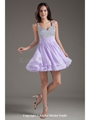 Buy hot sale lilac mini length interview pageant dress with beading and  straps from amazing pageant dresses collection, straps neckline empire in  lavender ...