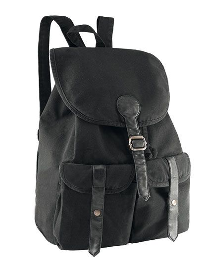 rucksack in 340 g gewaschenem canvas vintage look mit pvc. Black Bedroom Furniture Sets. Home Design Ideas