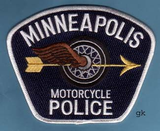 Minneapolis Pd Police Motorcycle Patch Police Police Badge Police Patches