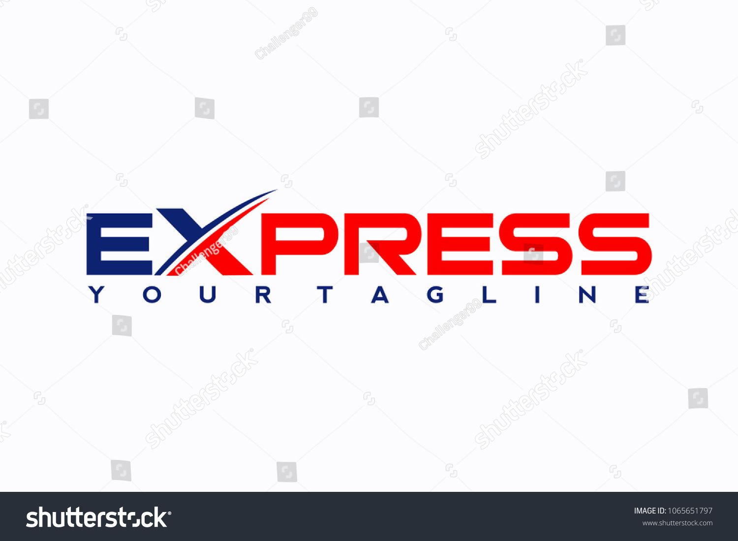 Fast Forward Express Logo Designs Vector Modern Express Logo