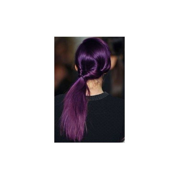 Pelo De Color Púrpura ❤ liked on Polyvore featuring beauty products, haircare, hair and julianne