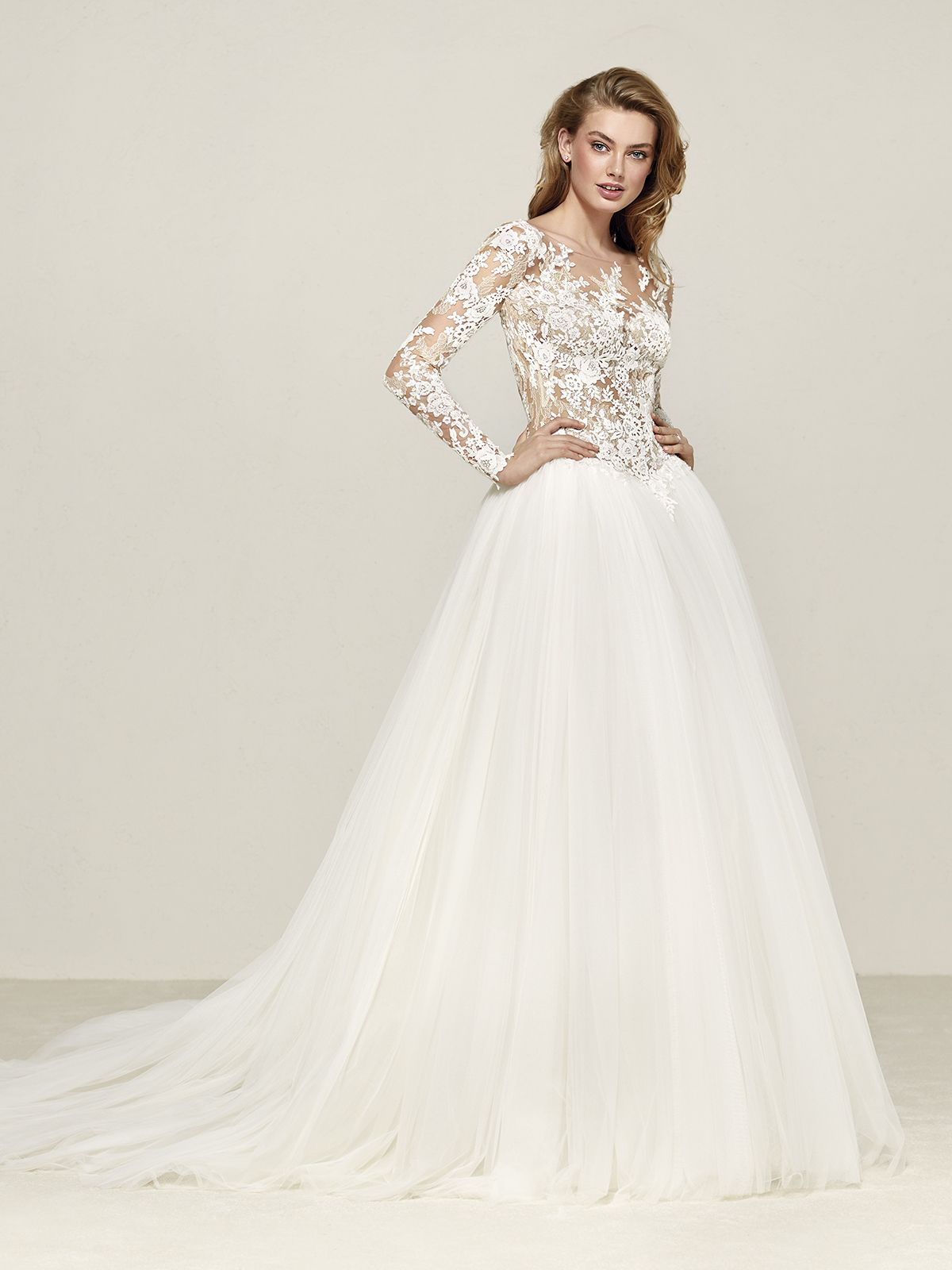 Wedding dresses out of pronovias dropal silhouette ball gown