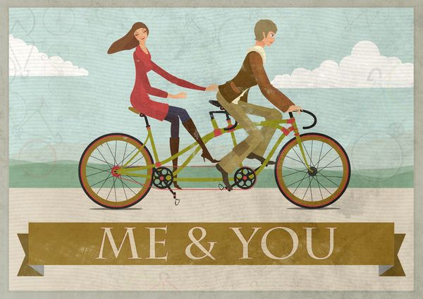 Me You Biking I Think Separate Bikes Is Better I Ll Still Be With You J Bike Art Print Bike Art Bicycle Painting