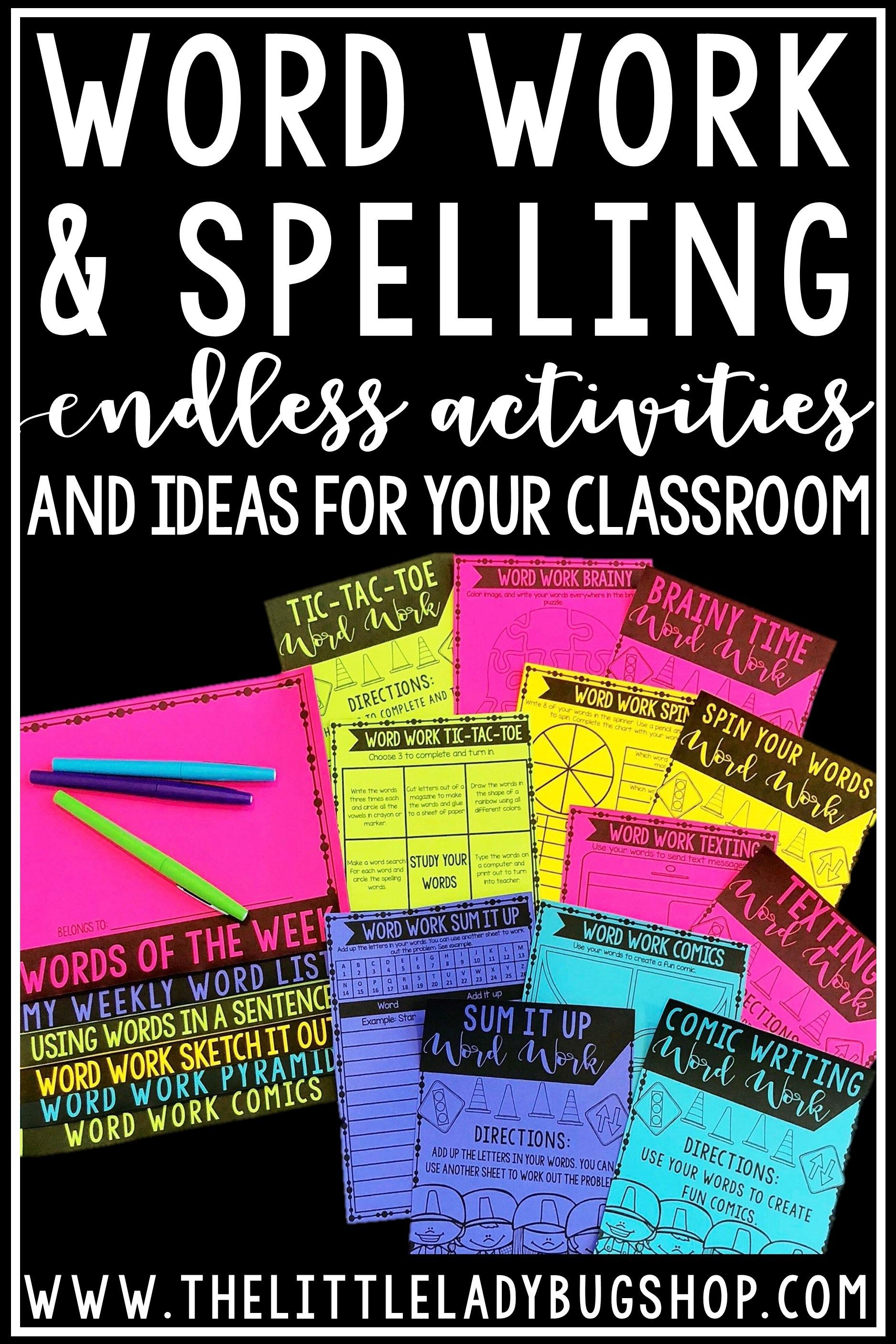Another Word For To Do List Fair Tips For Teaching Spelling And Word Work Activities  Pinterest .