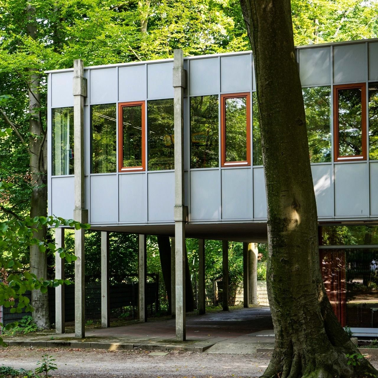 and Family Library Türmchen 1960 in Marl Germany by Van den Broek  Bakema Childrens and Family Library Türmchen 1960 in Marl Germany by Van den Broek  Bakema  W...