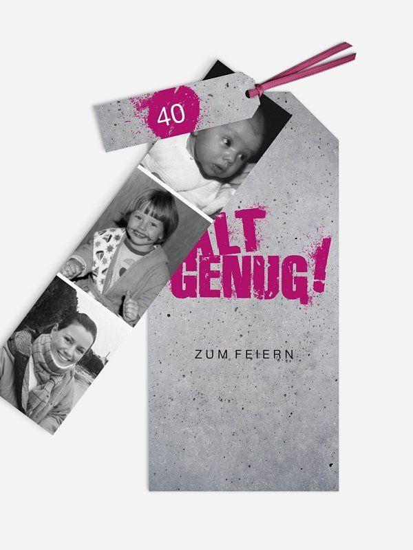 """einladungskarten 40. geburtstag """"streetart"""" ihr runder"""