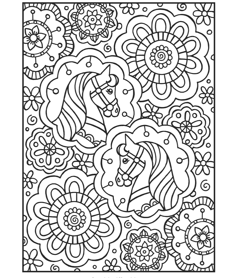 Gyazo Spark Horses Coloring Book Dover Spark Dover Coloring