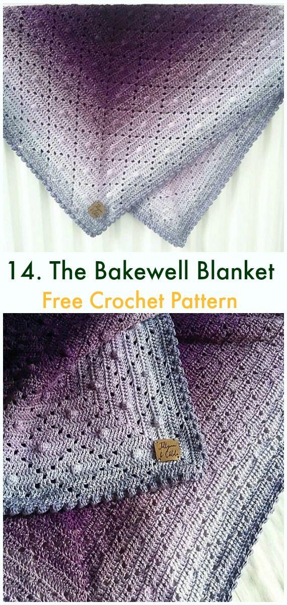 Bobble Popcorn Blanket Free Crochet Patterns Haken