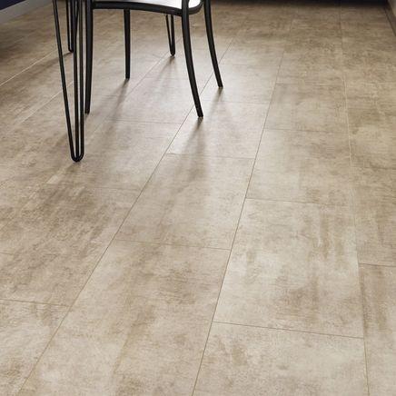 Quickstep Livyn Cream Travertine Vinyl Tile Flooring Kitchen