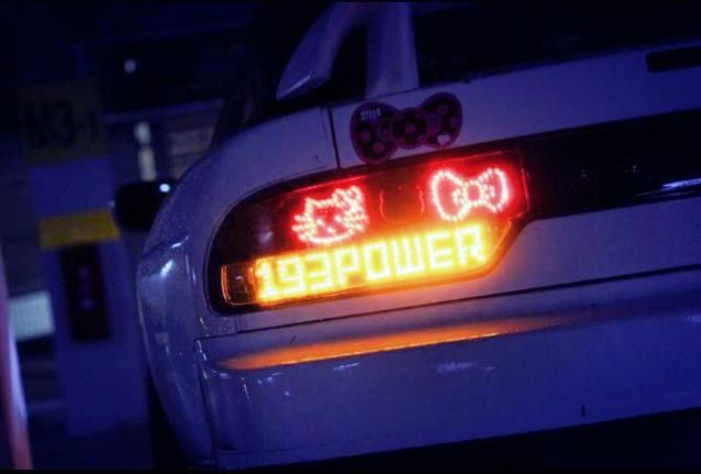 Hello Kitty tail lights for s13 | Car Inspiration & Ideas