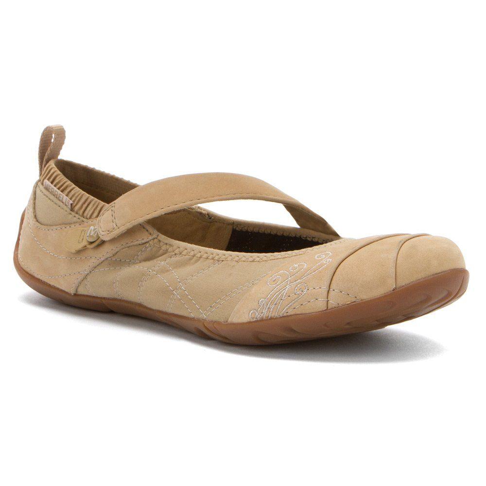 Amazon.com | Merrell Women's Barefoot Casual Wonder Glove Mary Jane Beige  10 M US | Flats