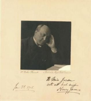 A Ghostly Tale - One recent rainy day in the Picture Collection of Mid-Manhattan Library, just shuffling through a fistful of photos, we happened upon this–uh, SIGNED photo of Henry James. Now we are loathe to confess it, but Mr.
