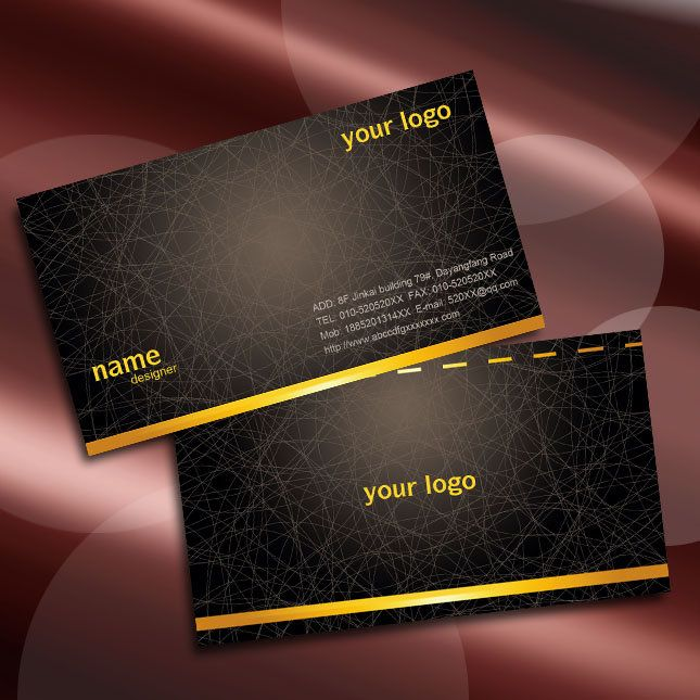 black business card design and appreciation of the coffee business