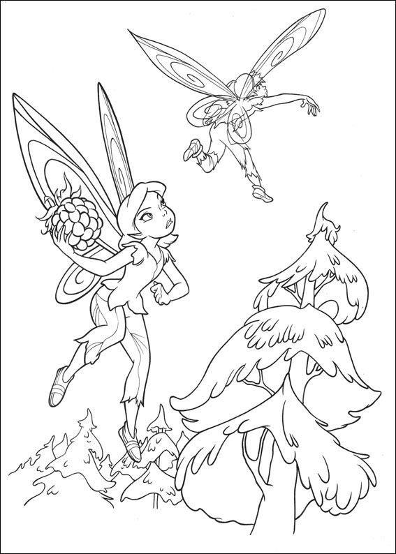 kleurplaten disney fairies