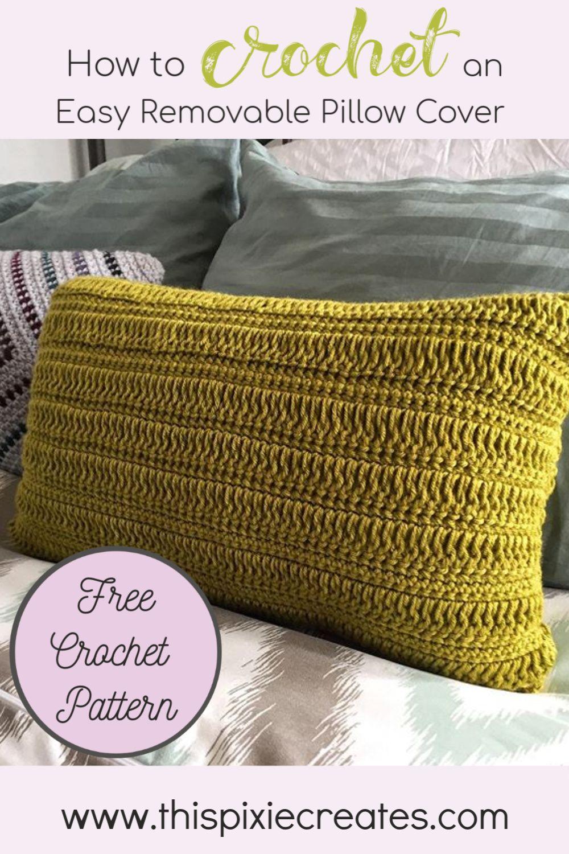 pillow cover crochet pattern
