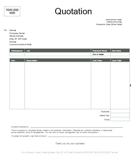httptrainingablessampleofbusinessquotationformat – How to Create an Invoice Template in Word
