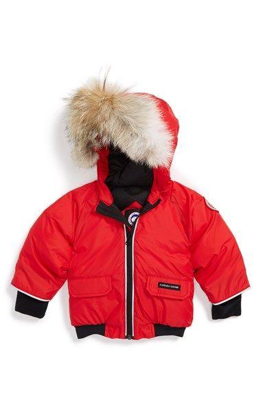 017eb4120 Canada Goose  Elijah  Down Bomber Jacket with Genuine Coyote Fur ...