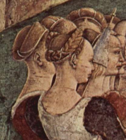 Dress and Hair-Triumph of Minerva-inSchifanoia-byFrancesco_del_Cossa_1470