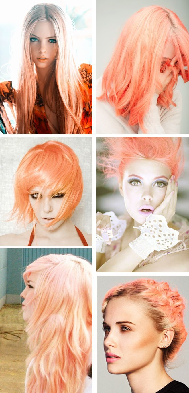 Examplesbrightorangehair волосы pinterest peach hair