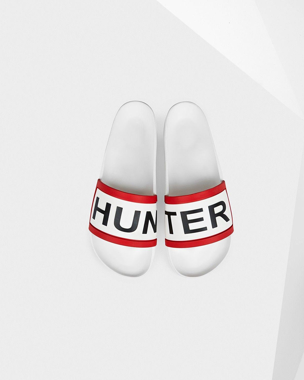 393dcc58ae8 HUNTER Men s Hunter Slides - WHITE.  hunter  shoes