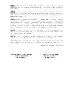 CONTRATO DE ARRENDAMIENTO DE TERRENOS AGRÍCOLAS Conste por el presente documento el Contrato de Arrendamiento de terreno Agrícola que celebran de una parte com…