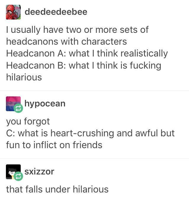In relation to headcanons     | Fandom | Tumblr funny
