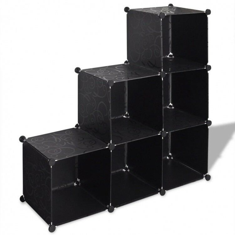 Black Cube Storage Organizer 6 Compartment Shelve Shoe Rack Bookcase Sideboard 36 00end Date Apr 14 Ebay Sales Cube Storage Shelving Bookcase Sideboard
