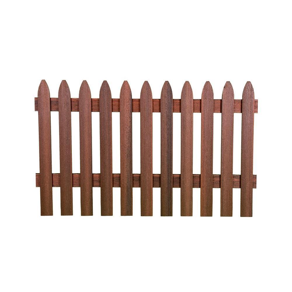 Veranda 3 1 2 Ft H X 6 Ft W Heartwood Gothic Composite Fence Picket Panel Fns Pnl2 G H 67 75 Fiberon Privacy Fence Panels Fence Panels