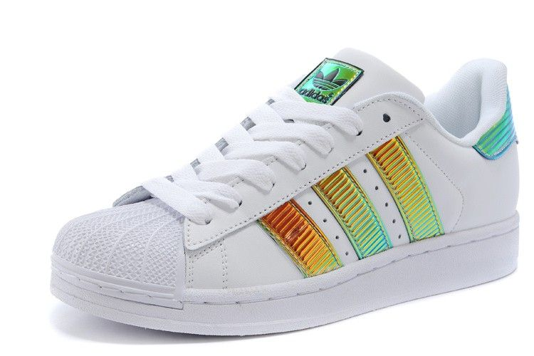Adidas superstar Bling Xl Unisex Mens Womans Skateboarding Shoes D65615  White Jade Gold