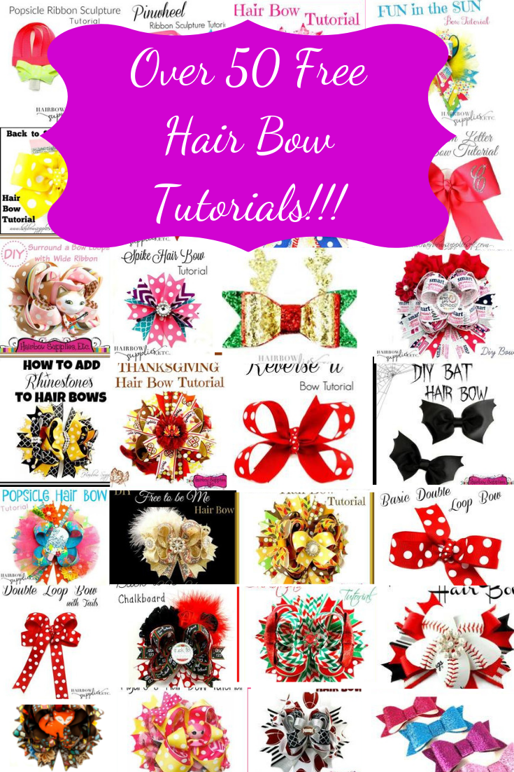 How to Make Hair Bows - Over 50 Free Tutorials - Hairbow Supplies, Etc.