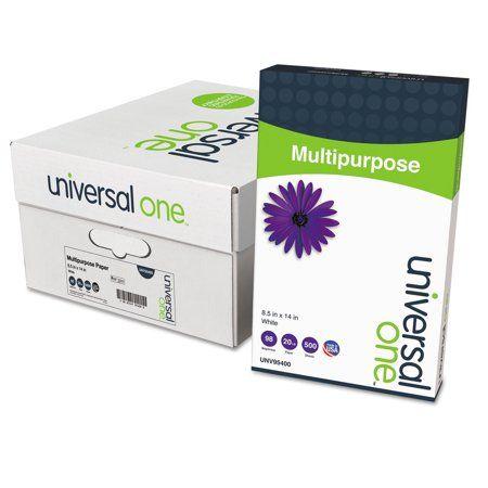 Universal Deluxe Multipurpose Paper 98 Bright 20lb 8 5 X 14 Bright White 500 Sheets Ream 10 Reams Carton Unv95400 Size 8 1 2 Inch X 14 Inch Printer Paper Stationery Printable Paper