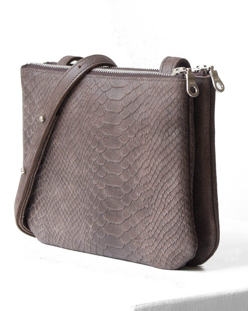 Shoulder Print RaesTassen Daphny Taupe Bag Python With By 0POkN8Xnw