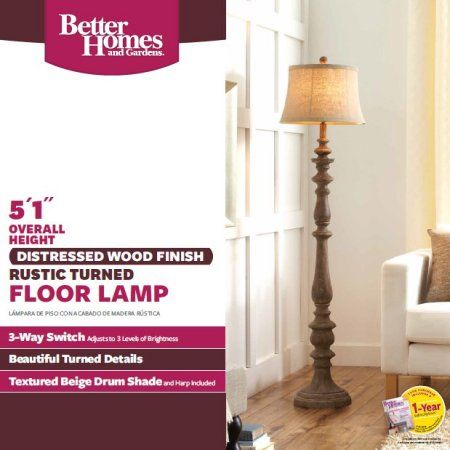 Great Better Homes And Gardens Rustic Floor Lamp Image 2 Of 4