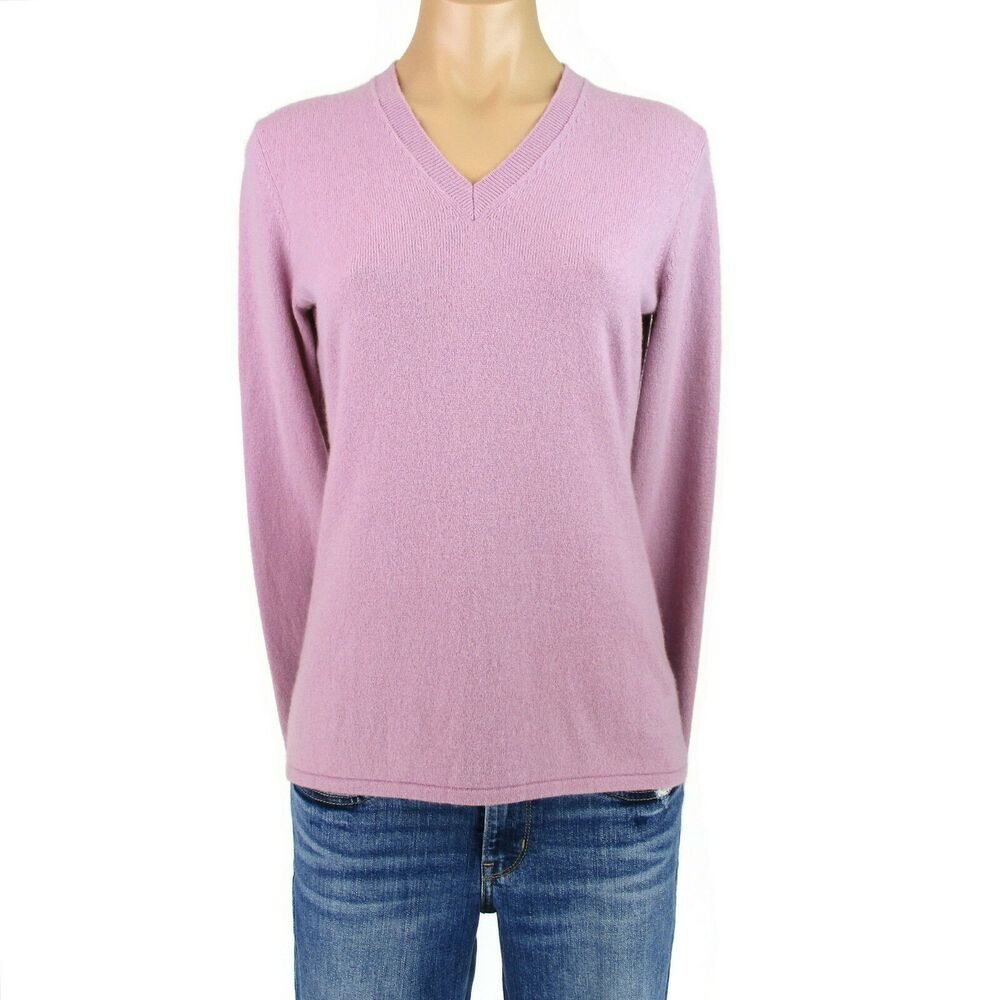 Mens /& Womens Cashmere Sweater 100/% Pashmina Black V-neck Jumper Pullover L /& XL