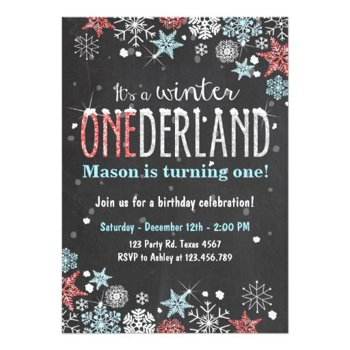 winter onederland birthday party invite boy boys birthday party