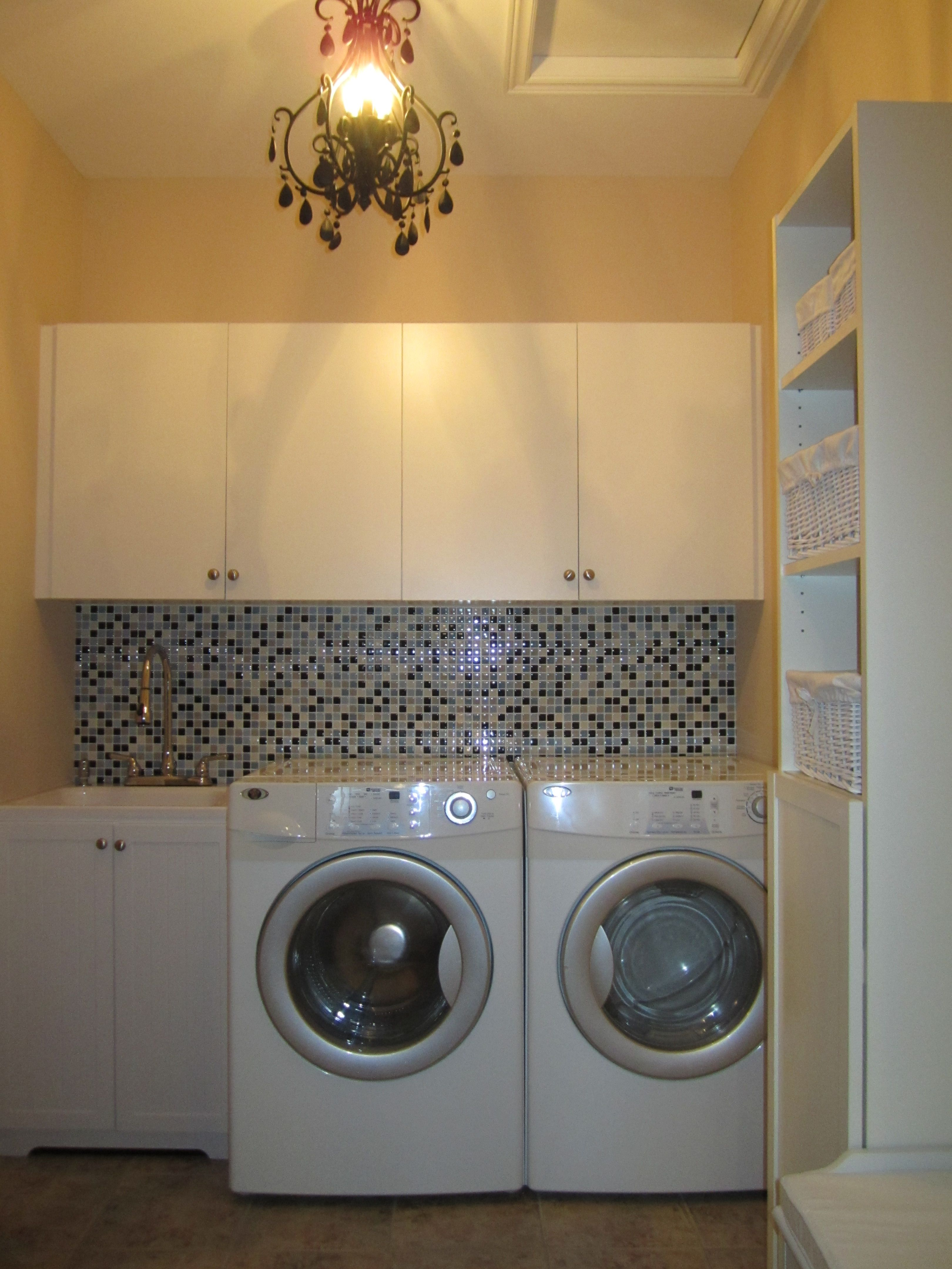 Decorative Laundry Items Diy Laundry Room Makeover Love The Tile Backsplash