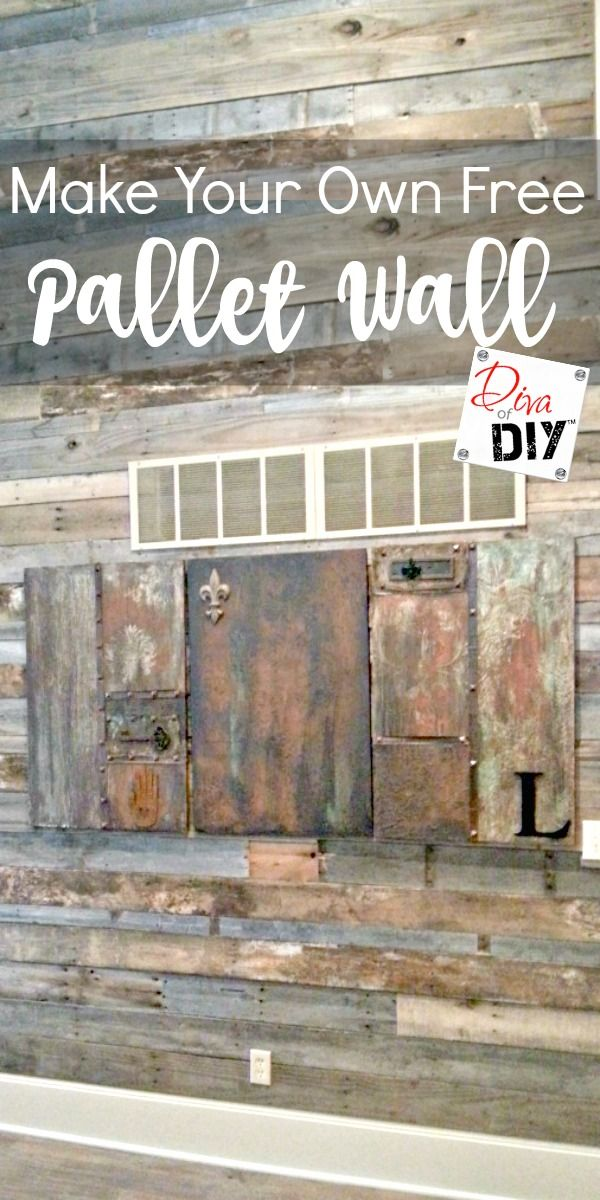 A pallet wall can make such a statement in your home. Pallet wood is such an easy & inexpensive way to add color and texture to any space. Pallet wood is the perfect inexpensive substitution for reclaimed barn wood. Great for an accent wall. via @divaofdiy
