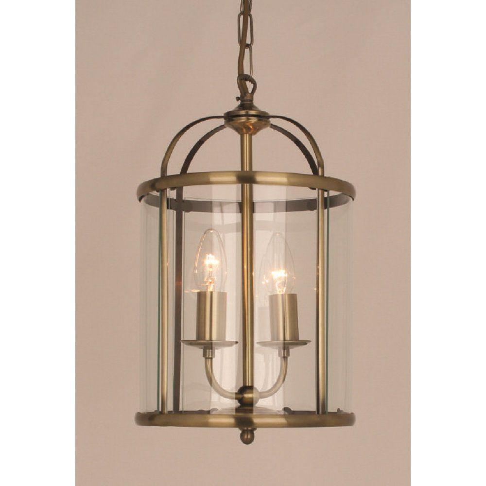 Impex Lighting Orly Round Lantern Antique Brass Ceiling Light At Turnbull