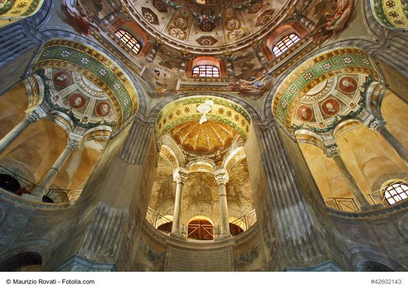 Basilica of San Vitale, Ravenna, Italy - This lovely church is one of the most important monuments of the Byzantine art and architecture. Its well preserved mosaics and rich history make this church a must-see landmark of Ravenna.